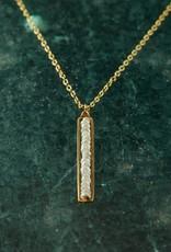 The Birch Store White Silverite Peapod Necklace