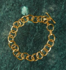 Roost Cirque Bracelet Gold Plated Linked Rings