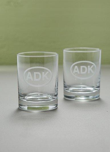 The Birch Store ADK Rocks Drinking Glasses, Set of 2