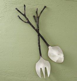 Roost Bronze Sapling Salad Servers
