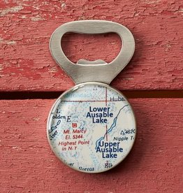 Chart Metalworks Ausable Lakes Bottle Opener
