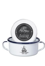 Wild and Wolf Shaving Soap & Enamel Bowl