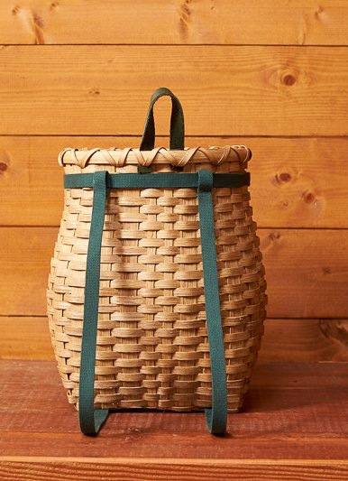"Clear Creek Weavers Locally Crafted 13"" Pack Basket"