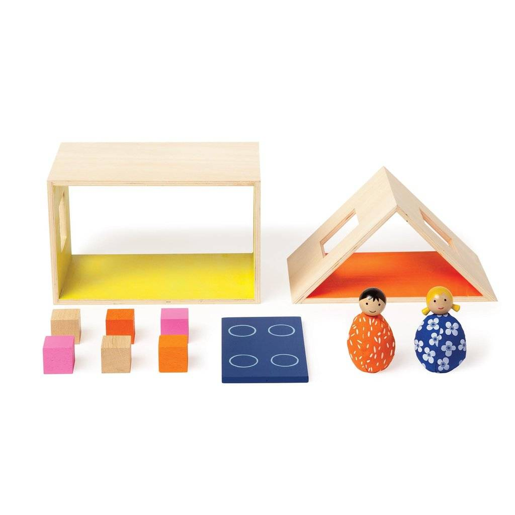 Manhattan Toy Wooden Playhouse with Beanbag People