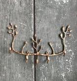 Vagabond Vintage Antique Brass Twig Key Hook