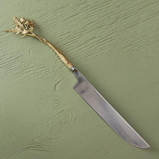 Table Art Oak Leaf Cake Knife