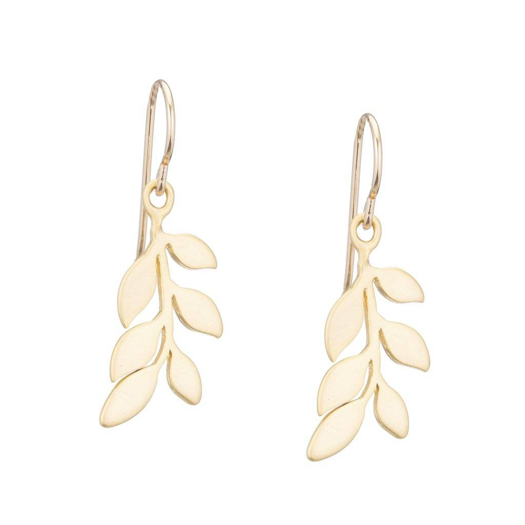 Padgett Hoke Gold Leaf Dangle Earrings