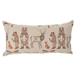 Coral & Tusk Embroidered Lumbar Pillow