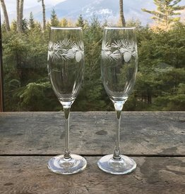 Rolf Icy Pine Flute Set of 2
