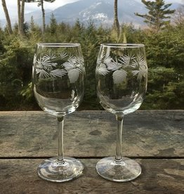 The Birch Store Icy Pine Large Wine Set of 2