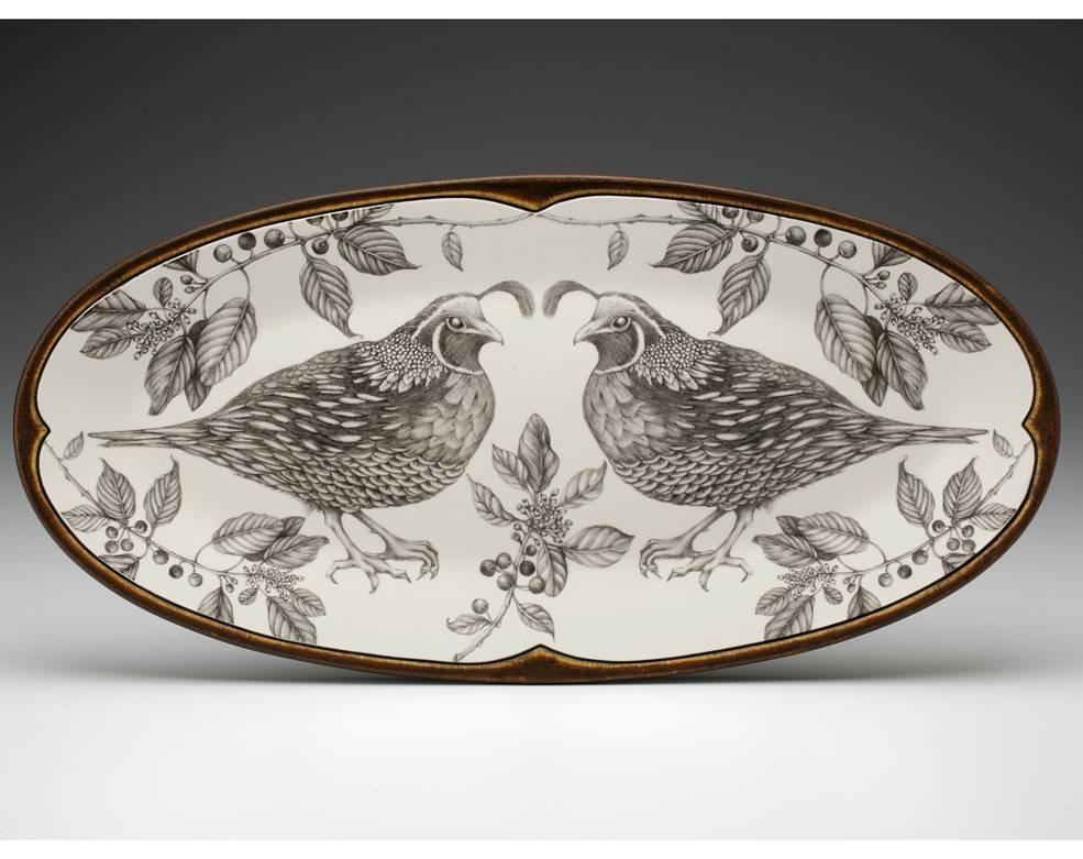 Laura Zindel Oblong Quail Platter