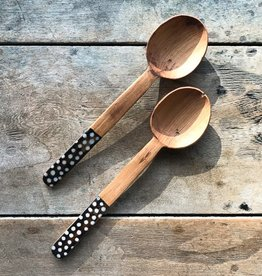 The Birch Store Dotted Bone Salad Set