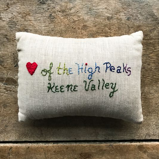 Lori Hall Heart of the High Peaks Balsam Scented Pillow