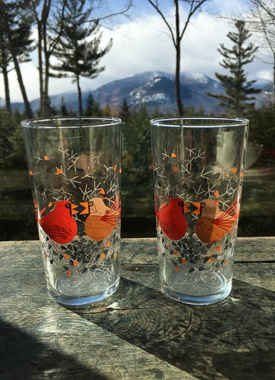 Fishs Eddy Cardinal Glass