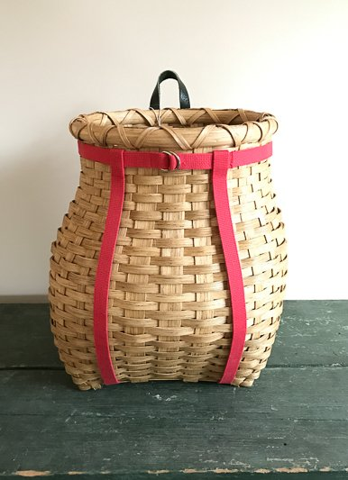 "Clear Creek Weavers Locally Crafted 16"" Pack Basket"