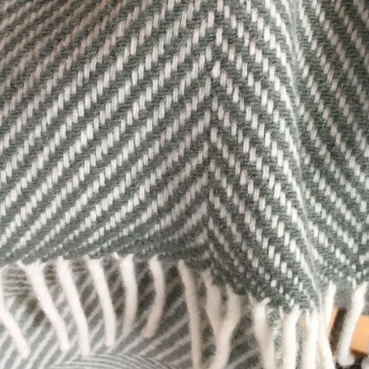 Simply Birch Herringbone Double Twill Throw