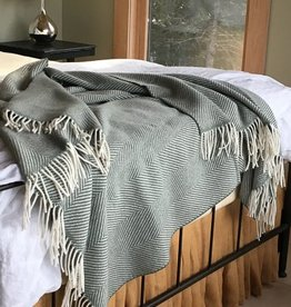 Simply Birch Herringbone Throw