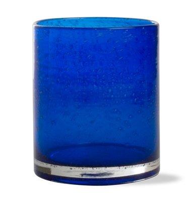 Tag Bubble Glass DOF Cobalt, Set of 4