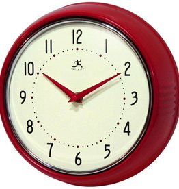 Infinity Instruments Retro Red Wall Clock