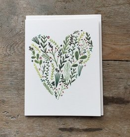The Birch Store Floral Heart Card