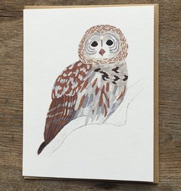 Small Adventure Barn Owl Card