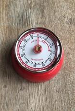 Kikkerland Magnetic Kitchen Timer Red