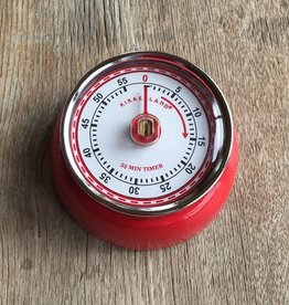 Kikkerland Magnetic Kitchen Timer Red