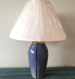 Cornwall Bridge Blue Stripe Pottery Lamp