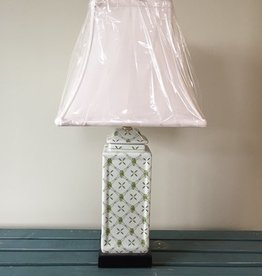 East Enterprises Green & White Table Lamp