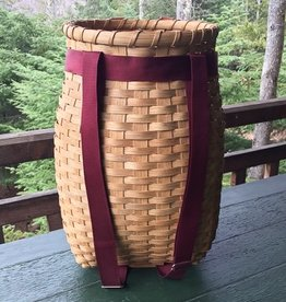 "Clear Creek Weavers Locally Crafted 20"" Pack Basket Burgundy"