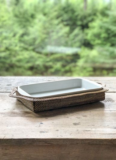 Calaisio Rectangular 2 Quart Baker with Basket