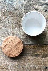 be Home Stoneware Bowl with Wood Lid
