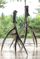 Roost Large Polished Antler Candlestick