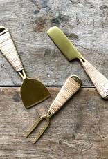 The Birch Store Brass & Rattan Cheese Shovel^