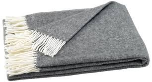 Lands Downunder Italian Herringbone Throw Charcoal