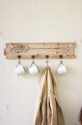 Kalalou Wooden Coat Rack w/ Arrow