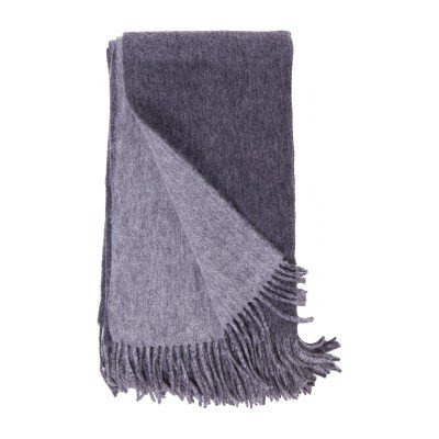 Alashan Cashmere Double Faced Woven Throw Charcoal/Ash