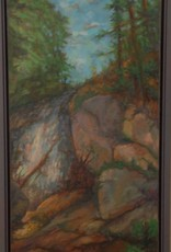 Bill Evans waterfall o/c framed
