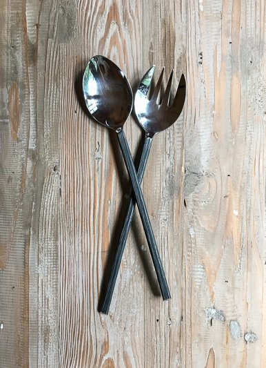 Roost Rustic Bark Salad Servers