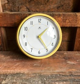 Infinity Instruments Retro Yellow Wall Clock