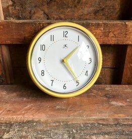 Infinity Instruments Retro Yellow Wall Clock