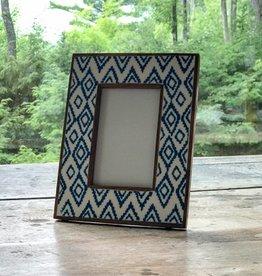 Shiraleah Blue Ikat Frame