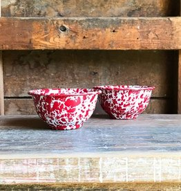 Crow Canyon Home Marble Red Enamelware Bowl