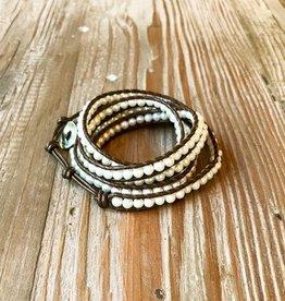 The Birch Store White Pearl Bracelet