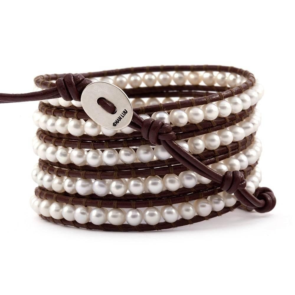 Chan Luu White Pearl Wrap Bracelet