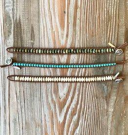 The Birch Store Leather & Stone Bracelet