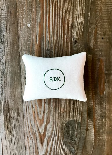 Lori Hall ADK Embroidered Balsam Filled Pillow