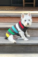 Chilly Dog Charcoal Blanket Stripe Dog Sweater