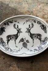 Laura Zindel Fallow Buck Oval Small Platter