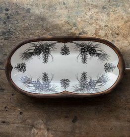 The Birch Store Rectangular Pine Branch Serving Dish